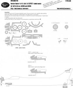 Hawker Hunter F.4/F.5/J34, F.6 EXPERT kabuki masks