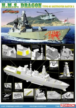 H.M.S. Dragon Type 45 Class Destroyer