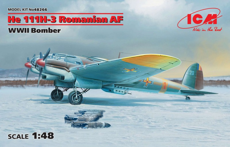 He 111H-3 Romanian AF, WWII Bomber
