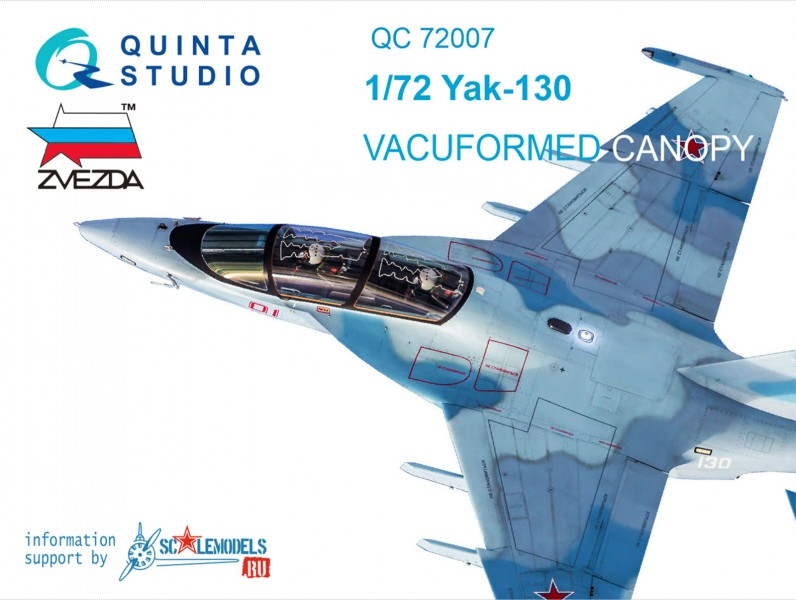 Yak-130 vacuformed clear canopy with det,cord