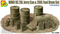 US WWII 20L Jerry Can & 200L Fuel Drum set