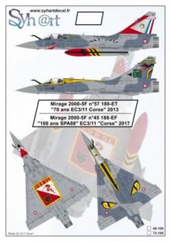 "Mirage 2000-5F #57 188-ET ""70 years EC3/11 Corse"" 2013, ""100 years SPA88"" EC3/11"