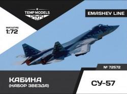 Su-57 cockpit set for Zvezda