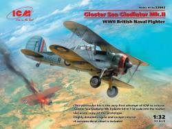 Gloster Sea Gladiator Mk.II , WWII British Naval Fighter