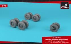 """BAe """"Nimrod"""" wheels w/ weighted tyres"""