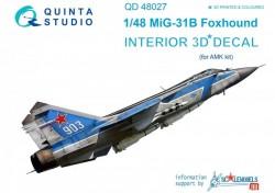 MiG-31B 3D Interior 3D Decal
