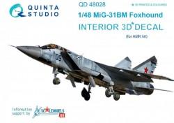 MiG-31BM 3D Interior 3D Decal
