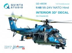 Mi-24V NATO (black panels)  Interior 3D Decal