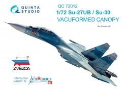 Su-27UB/Su-30 vacuformed canopy