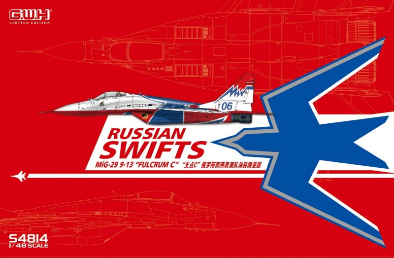 "MIG-29  9-13 ""Fulcrum C"" ""Russian Swifts"" /w special Mask & Decal"