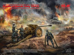 Battle of Kursk(July 1943)(T-34-76(early 1943),Pak 36(r )with Crew(4 figures))