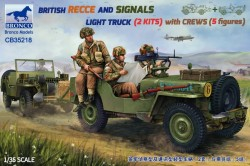 BRITISH RECCE AND SIGNALS LIGHT TRUCK (2 KITS ) with CREWS