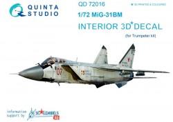 MiG-31BM  Interior 3D Decal