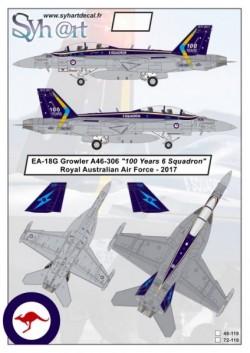 "EA-18G Growler A46-306 ""100 Years 6 Squadron"" RAAF - 2017"