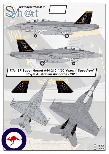 "F/A-18F Super Hornet A44-210 ""100 Years 1 Squadron"" RAAF - 2016"