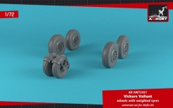Vickers Valiant wheels w/ weighted tires