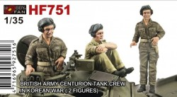 BRITISH ARMY CENTRURION TANK CREW IN KOREAN WAR-2 FIGURES