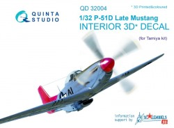 P-51D (Late) Interior 3D Decal