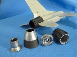 F-16. Jet nozzle for engine F110 (closed) (Tamiya)