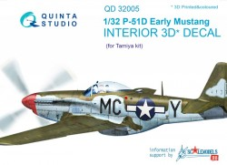 P-51D (Early) Interior 3D Decal