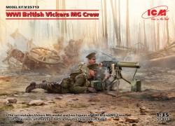 WWI British Vickers MG Crew(Vickers MG & 2figures)