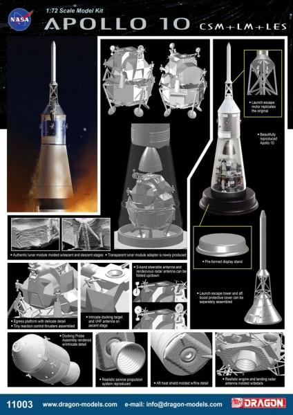 Apollo 10 CSM + LM + LES