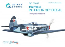 Yak-3 Interior 3D Decal