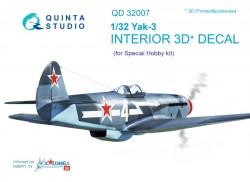 Yak-3 Interior 3D Decal