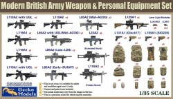 Modern British Army Weapon & Personal Equipment