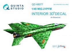 MiG-21PFM Interior 3D Decal