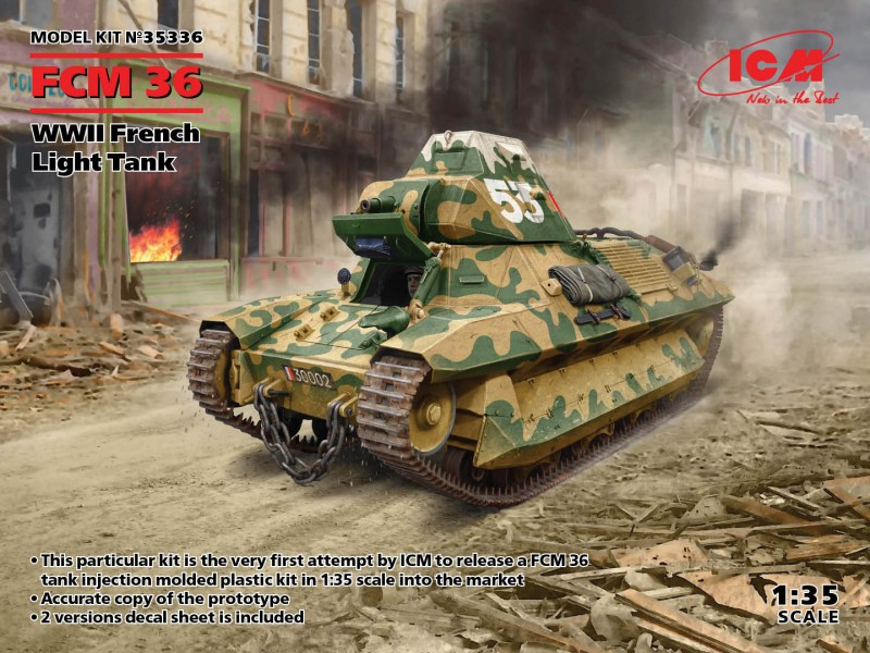 FCM 36, WWII French Light Tank
