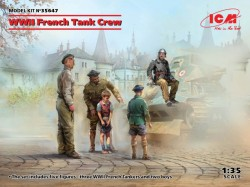 WWII French Tank Crew (4 figures)