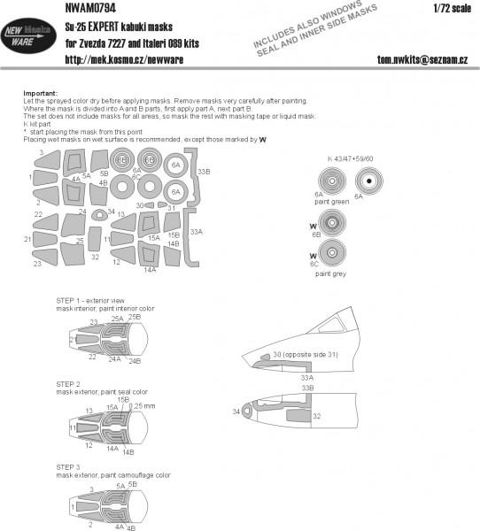 Su-25 EXPERT kabuki masks