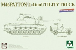 MEDIUM  TANK M46  PATTON + 1/4 ton UTILITY TRUCK Limited Edition