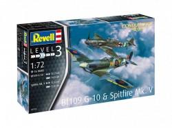 Bf109G-10 & Spitfire Mk.V