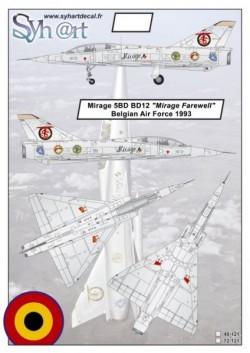 "Mirage 5BD BD12 ""Mirage farewell"" Belgian Air Force 1993"
