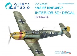 Bf 109E-4/E-7 Interior 3D Decal