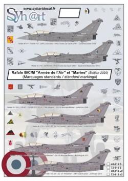 """Rafale B/C/M standards marks """"Armée de l'Air & Marine"""" (version 2020)"""