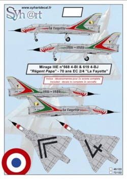 "Mirage IIIE ""Regent Papa"" 70 years EC2/4 La Fayette"" 1916-1986"