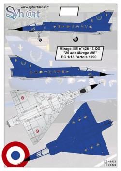 """Mirage IIIE 13-QG """"25 years Mirage IIIE"""" EC1-13 Artois 1990"""