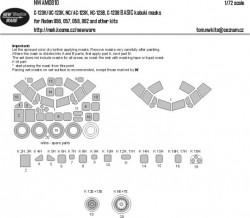 C-123K/UC-123K, NC/AC-123K, HC-123B, C-123B BASIC kabuki masks