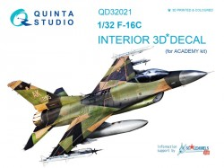 F-16C Interior 3D Decal