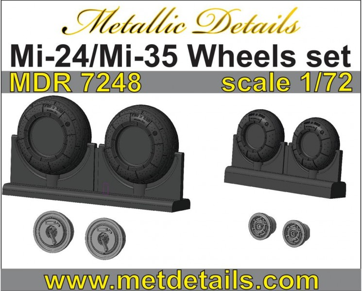 Mi-24/Mi-35. Wheels set