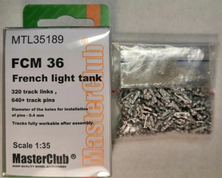 Tracks for French light tank FCM 36