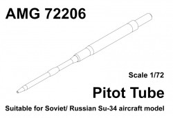 Pitot tube for aircraft Su-34 (turned brass)