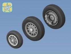 SAAB J-35 Draken wheels set – No Mask series