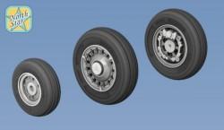 SAAB J-37 Viggen wheels set – No Mask series