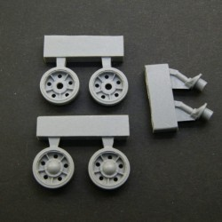 T-34 SU 1940 Idler Wheels (early type) with rubber bandage, type 2 + cranks set