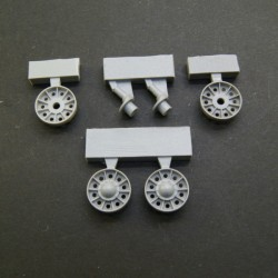 T-34 SU 1943/1945 Idler Wheels (late, type 1) without rubber bandage, rims with reinforcement rings