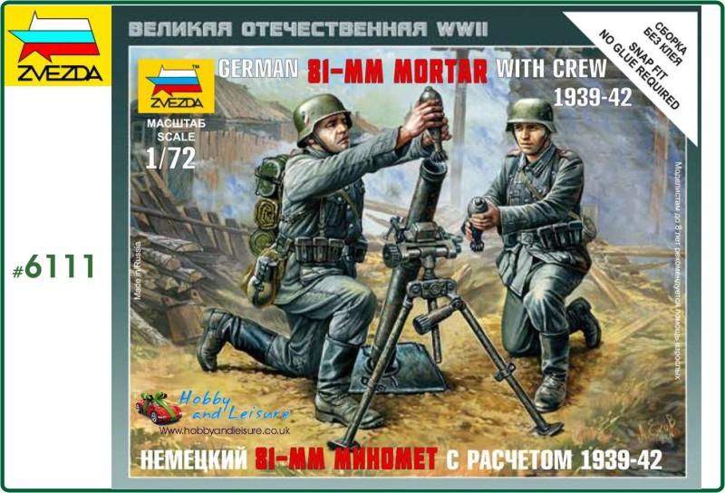 German 81mm mortar w/ crew